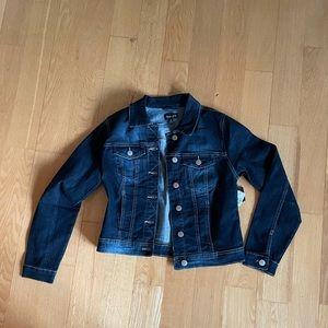 New look dark blue denim jacket silver buttons M